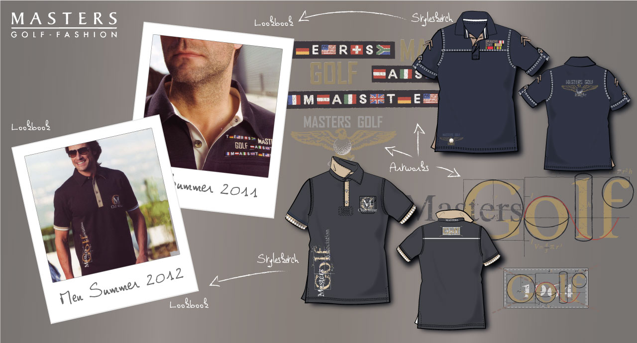 Herren Golf Shirt Design, Modell Foto