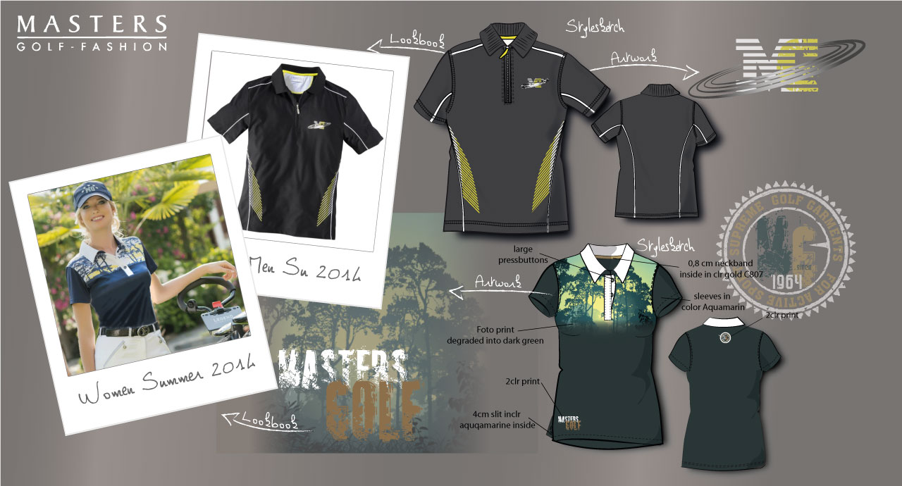 Men and Women Golf Shirt Design, Style Photo