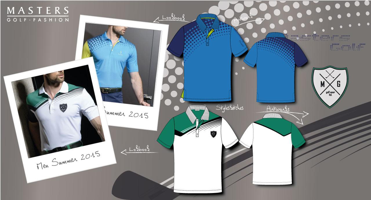 Men Golf Polo Shirt Layouts, Style Photos