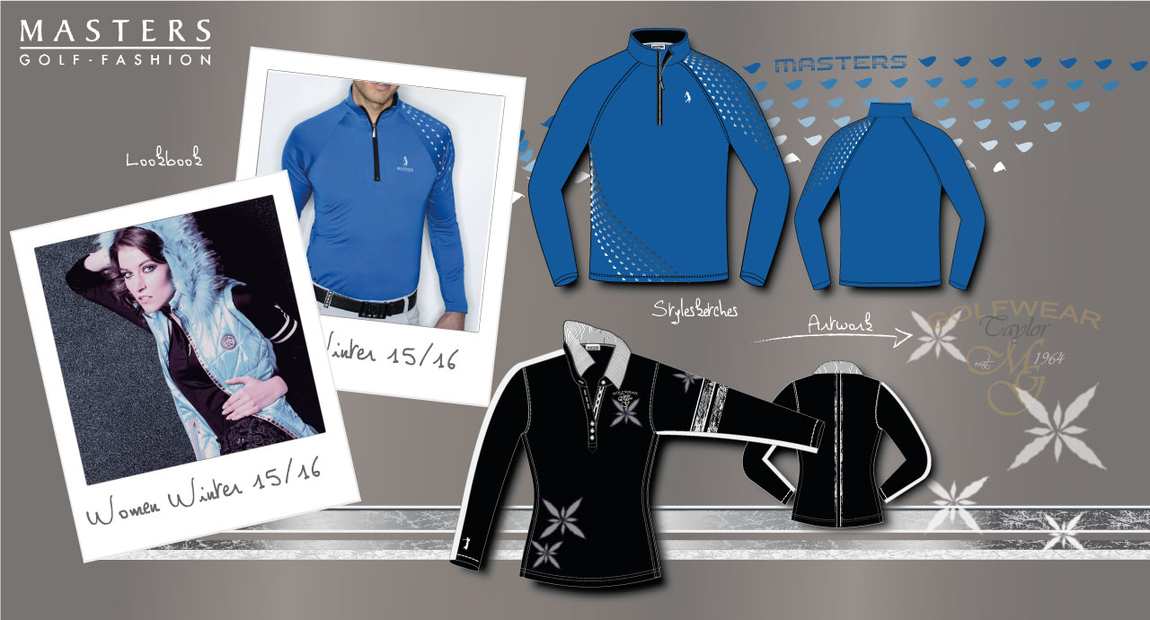 Winter Golf Shirt Entwürfe, Modell Fotos