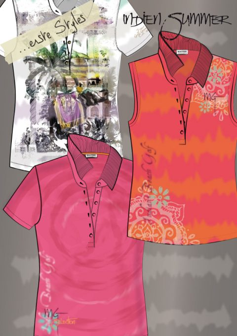 Shirt Design with Batik Print, Allover Print and placed prints