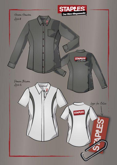 Berufsbekleidung Hemden, Herren und Damen