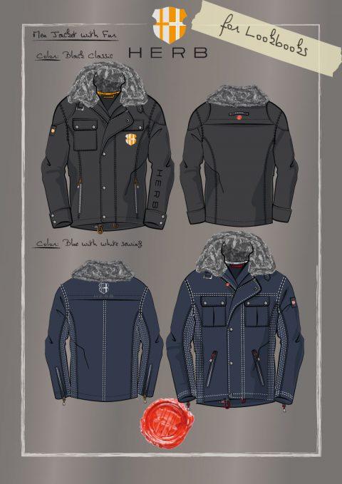 Skizzen Outdoor Jacken