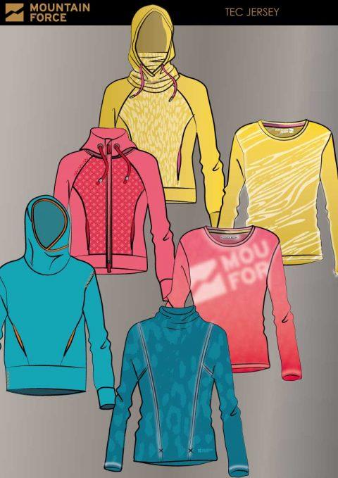 Ski Wear Shirt Design Mountain Force