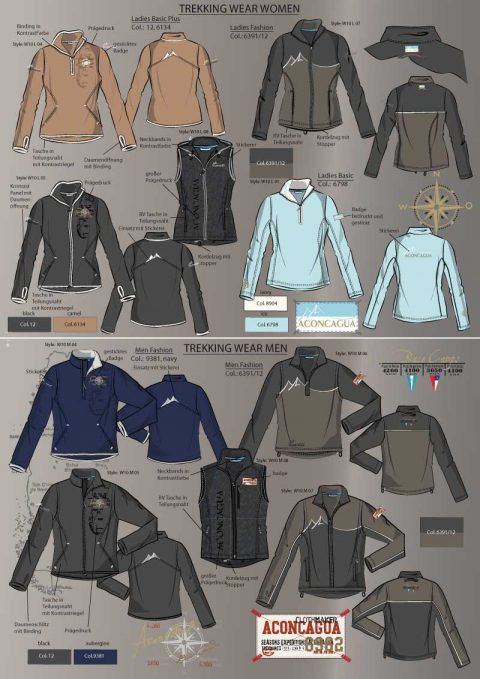 Trekking Wear Design für Aconcagua, Men and Women